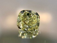 1.60ct Fancy Yellow VVS1 Cushion VDYC006@1x